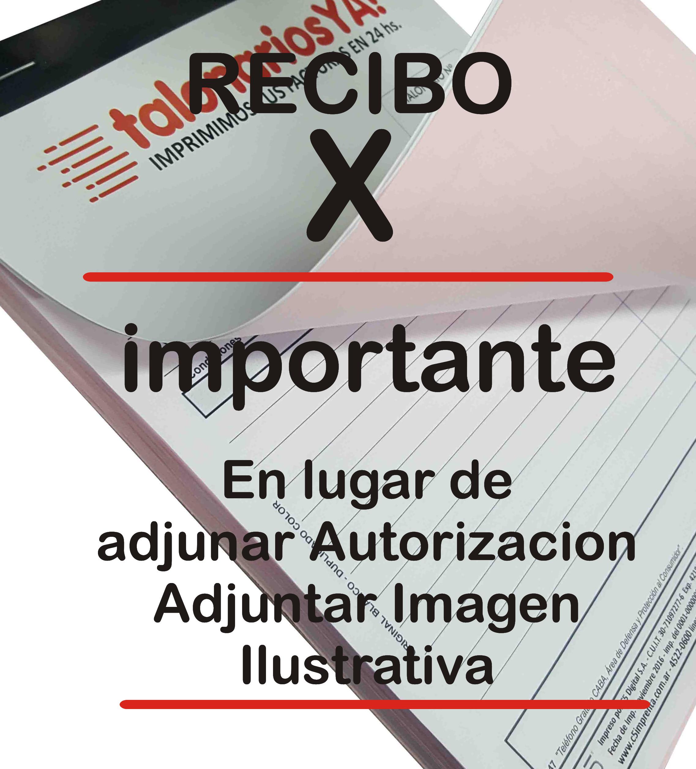 Imagen Recibo X