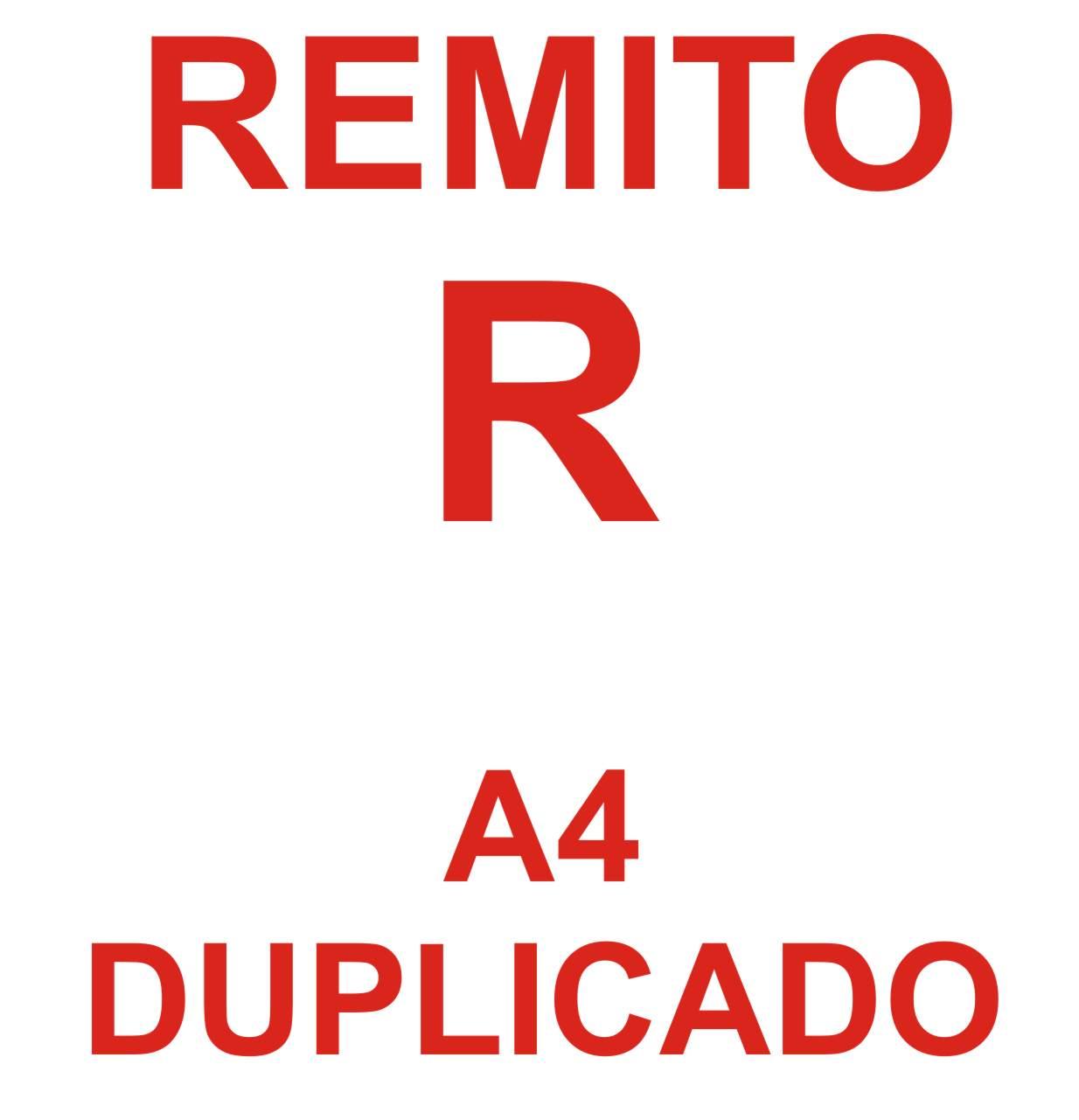 Portada Remito R A4 duplicado